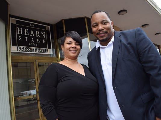Keisha Rogers (left) and Curtis Von of Acting Bad Productions of Houston.