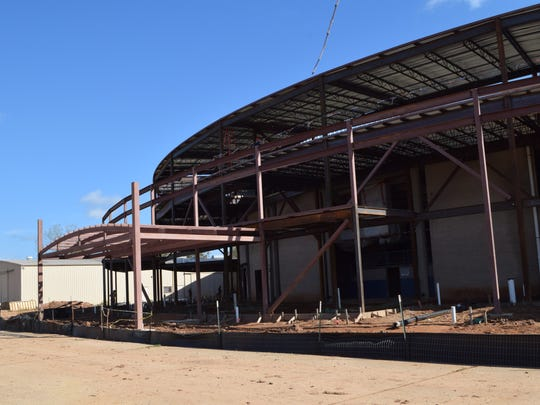 The Rapides Parish Coliseum is being expanded to accommodate larger crowds as part of the building's $22.9 million renovation project.