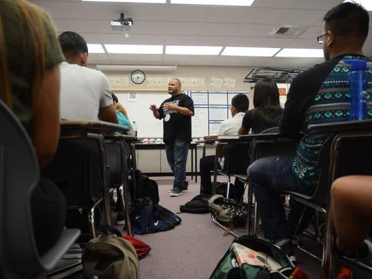 John Gonzalez, and English teacher at Desert Mirage
