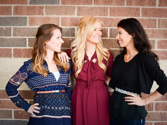 Amanda Masthay, Monica Goode and Molly Crosby are are co-spokespeople for the 2015 Give-A-Kid-A-Book campaign.