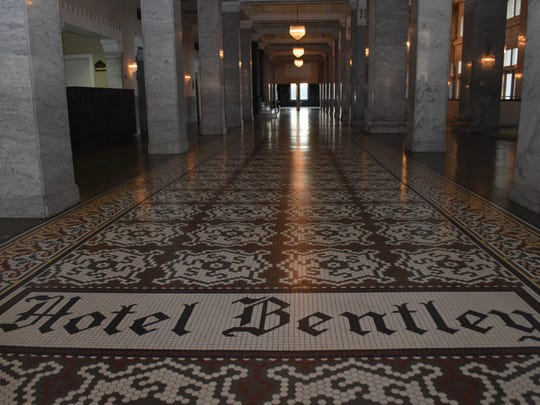 The Hotel Bentley was built in 1908 by lumber mogul Joseph A. Bentley. The hotel became a landmark in central Louisiana.