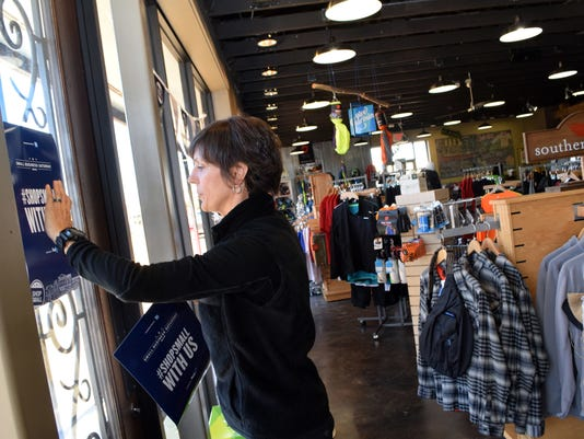 """Local business owner Elizabeth Cassano, owner of Run Wild on Jackson Street Extension in Alexandria, says """"local retailers are the engines of economic activity in their communities."""""""