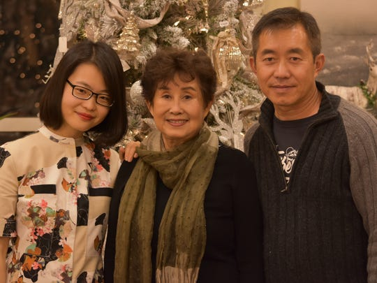 From left, Xiaoke Jia, International Tasting chair Sieu Tang Wood, and her son, Nan Yuan, who traveled from Las Vegas for the MACOA fundraiser.