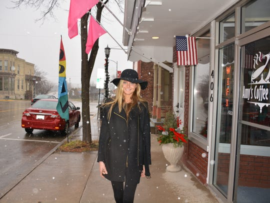 Nikayla Novak is back in Kewaunee for the holidays