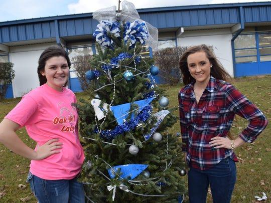 Oak Hill High School seniors Kristen Brister (left)