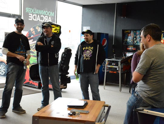 Competitors in the first Moonwalker Arcade pinball