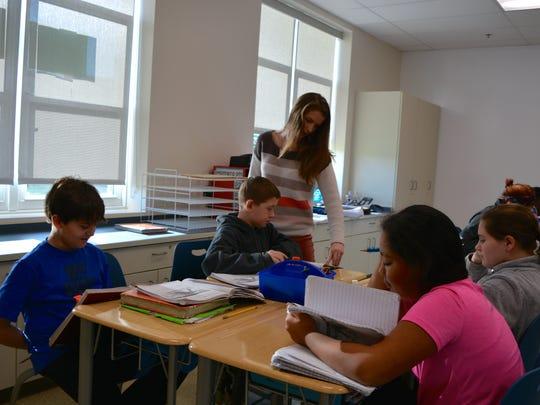Brooke Couchman, a sixth grade social studies teacher