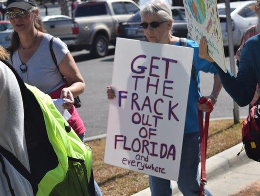 Anti Fracking rally