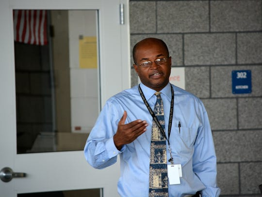 Pocomoke High School assistant principal Kennis Austin