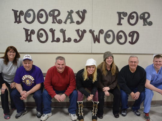 Cast members of Kewaunee Young People's Theater will perform their adult variety show Feb. 19-21 at the Ag Heritage Center.   Left to right:  Lori Kleiman, Kevin Dax, Ray Harrell, Laura Wotachek, Vicki Sisel, John Schultz and Shawn Seibold.