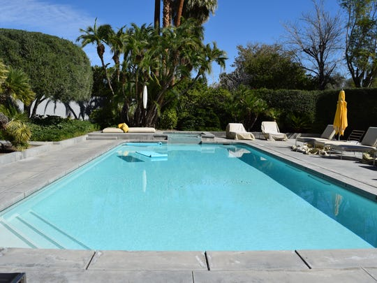 The oversized pool at Dinah Shore's former Palm Springs estate at 432 W. Hermosa Place, now owned by Leonardo DiCaprio, Feb. 17, 2016.