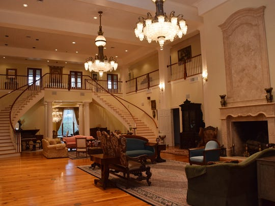 The Maison Bonne Vive (ÒThe Good LifeÓ), is a 20,000-square-foot home located at 2019 Horseshoe Drive in Alexandria. A grand double staircase and 150-year-old chandeliers are the main features of the great room in the house.