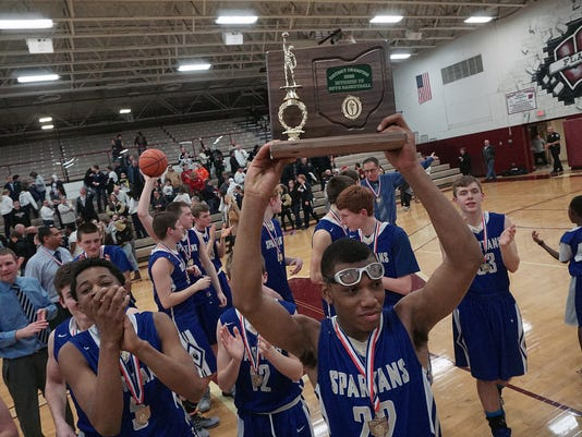 Boys Basketball: St. Peter's District Champions