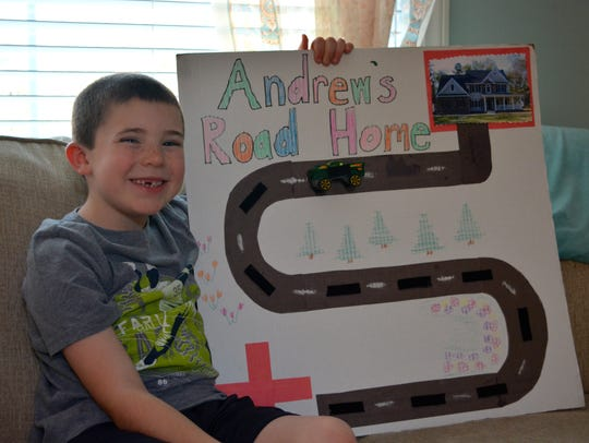 7-year-old Andrew Connors is pictured with the original