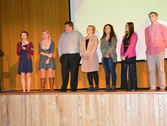 Algoma High School students who were members of the