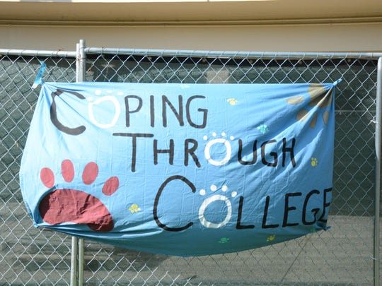 Coping Through College aims to provide stress relief for students through the loving power of dogs.