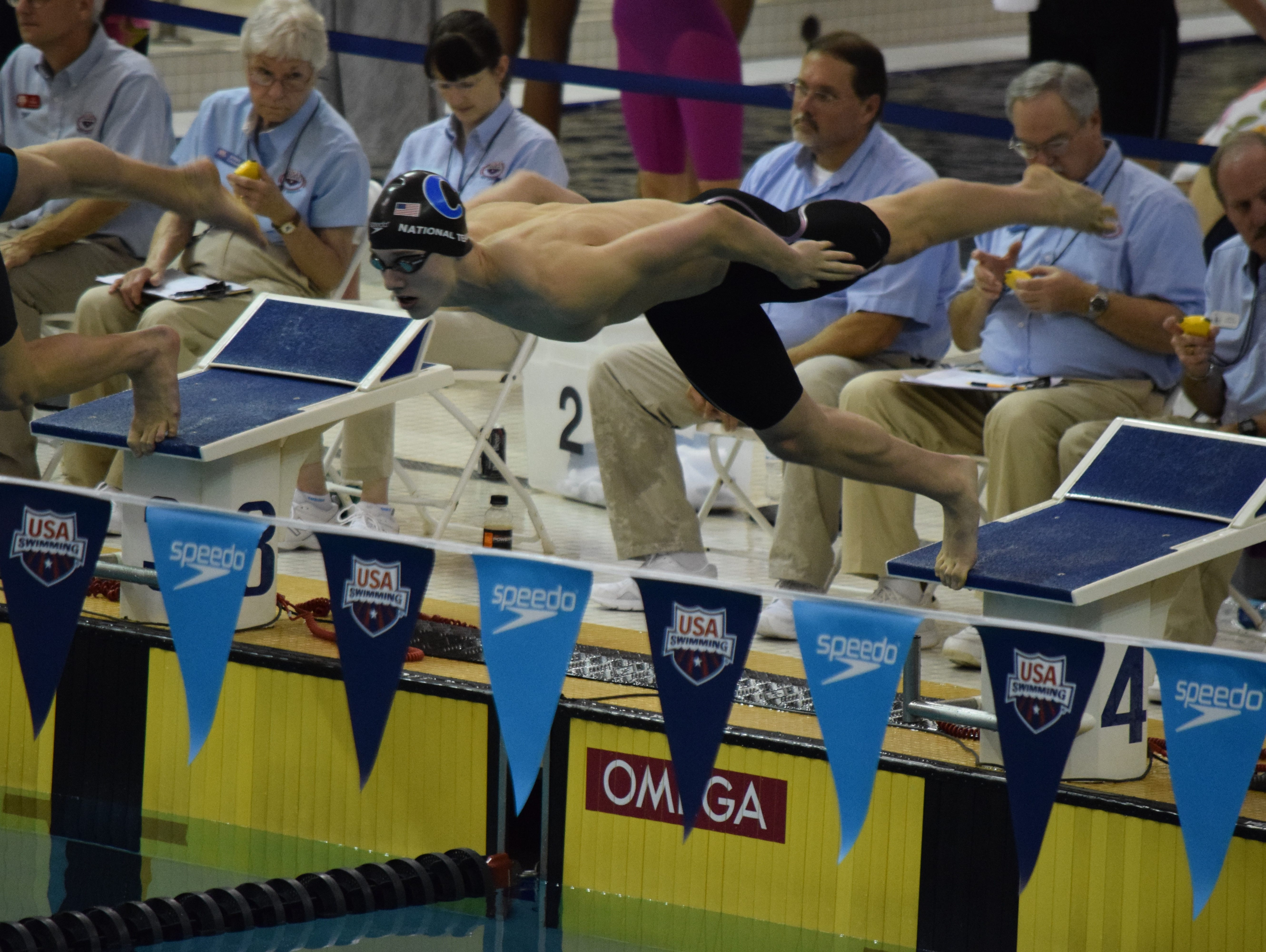 Carmel swimmer Drew Kibler, 16, ranks No. 2 in the 50- and 100-yard freestyles.