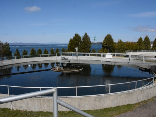 Wastewater is treated in the Burlington treatment plant
