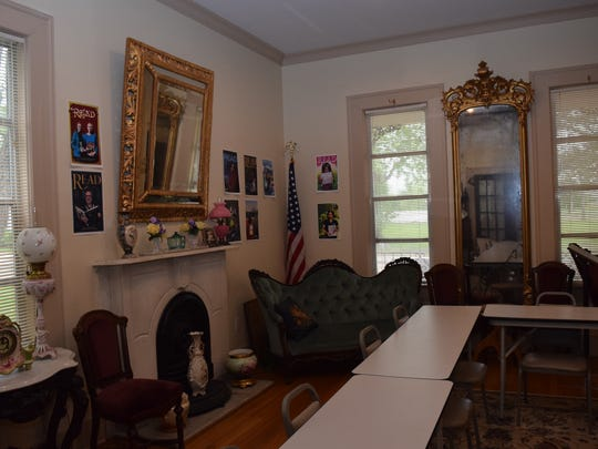 The Huie-Dellmon House, which was donated to the Rapides Parish Library in 1993, includes antiques and memorabilia from the families of Town Talk founder Henarie Huie.