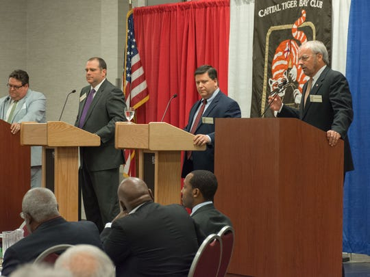 Candidates for State Attorney of the 2nd Judicial Circuit, from right: Pete Williams, Sean Desmond and Jack Campbell.