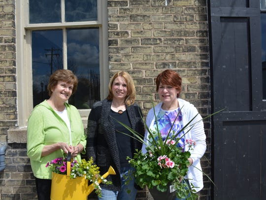 Mary Skornicka, Ann Crevcoure and Mary Stoeger are members of the committee organizing the first Kewaunee Garden and Outdoor Living Show at  Lakehaven on May 28.