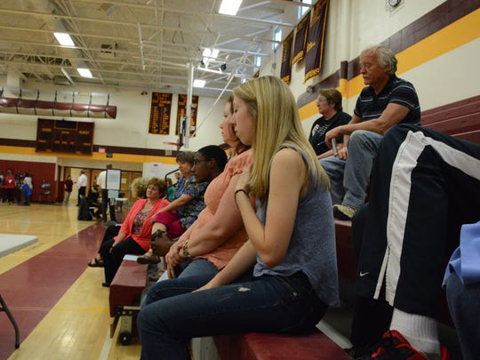 Aubrey Roe, 17, of Lisle is one of several teens who attended the Whitney Point Community Addiction Awareness and Solutions event Monday evening.