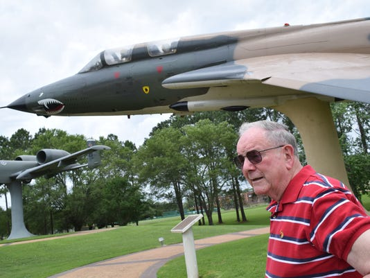 Tom Gallagher, a former Air Force pilot, used to fly the F-105, like the one of the planes displayed at Heritage Park at England Airpark.