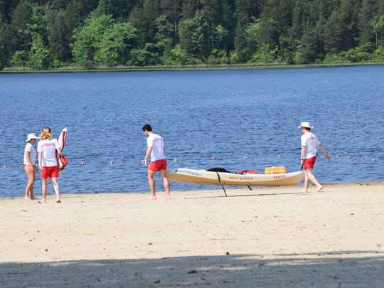 Parvin State Park lifeguards prepare to open the beach