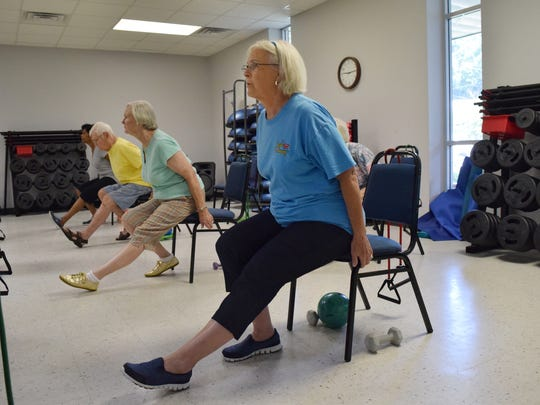 Elaine Atkinson, 71, has been attending Chair Aerobics at the Turner Street YWCA since February. She has noticed an increase in flexibility and feels more motivated since starting the class.