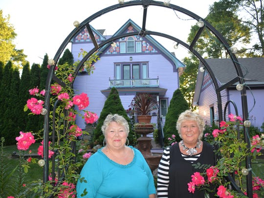 Karen Howlett and her sister Cathy say they promote the Hollyhock House and its Kewaunee location as a destination wedding.