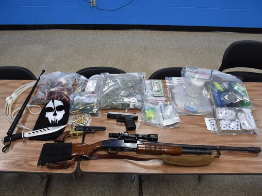 A Piscataway man has been charged with multiple drug and weapons offenses and is being held on 350,000 bail.