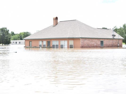 Flooding in the Lafayette area Sunday, Aug. 14, 2016.