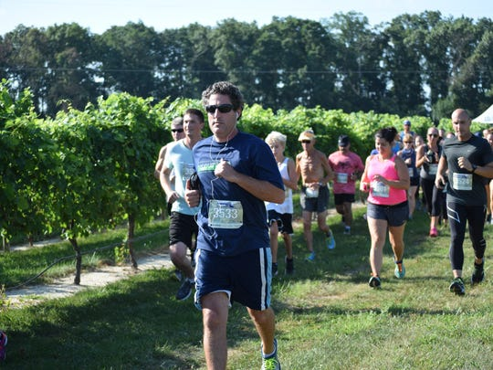 Patrick Napoli of Woodbury was one of many runners
