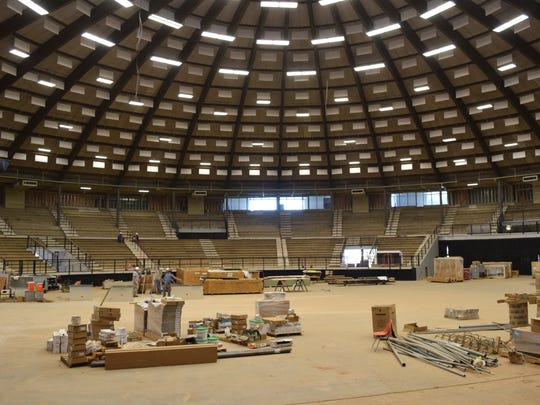 The $22.9 million renovation of the Rapides Parish Coliseum is scheduled to be complete enough by the end of the year so that the facility can open.i