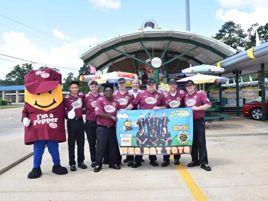 """The """"Who Dat Tots"""" crew from the Sonic Drive-In on Monroe Highway in Pineville is one of 12 Sonic crews from across the country set to compete in the Sonic Games in Nashville. The crew brought home the gold medal at last year's games."""