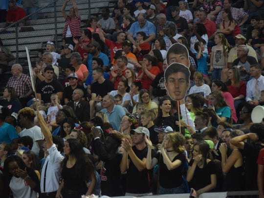 Tioga fans show their support for the team in the Indians' 41-31 victory over ASH Friday.