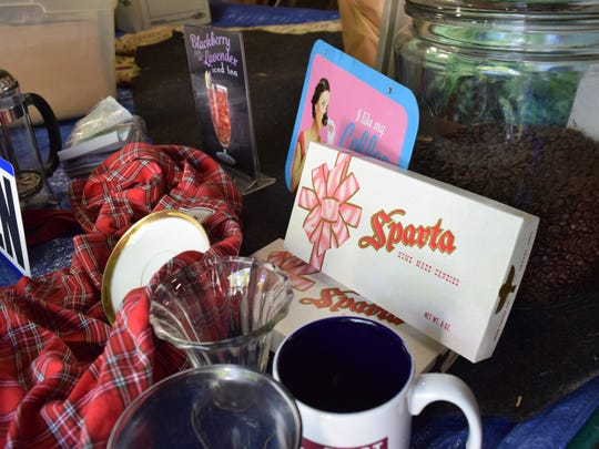 An original Sparta candy box, along with other memorabilia, will be available at the Sparta farewell event Friday, celebrating the restaurant's history. Anyone who attends will get one free candy box.