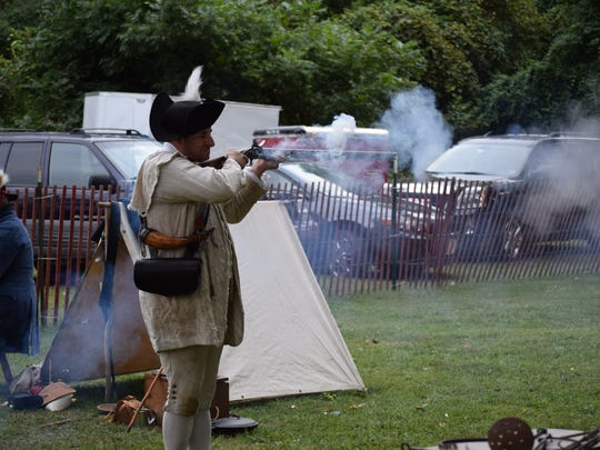 Tony Melita of the Salem County Militia reenactors