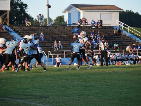#2 Tommy Ariza goes in for a tackle.