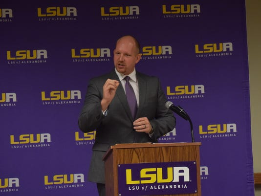 Adam Jonson was announced as the new LSUA athletic director Wednesday.