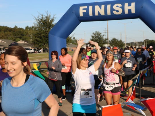 Runners of all ages participate in the #raceforeducation 5K for South Louisiana Community College.