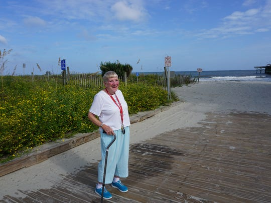 """I'm kind of excited about it,"" Ann Bartlotti, 79, said of Hurricane Matthew. In her 15 years as a Myrtle Beach resident, she's seen a category one hurricane, and looks forward to waves crashing against the beach."