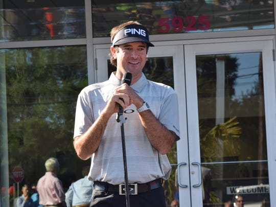 Bubba Watson addressed gathering Wednesday to announce