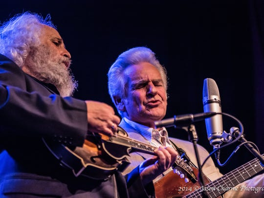 David Grisman and Del McCoury perform Friday night at the Germantown Performing Arts Center.