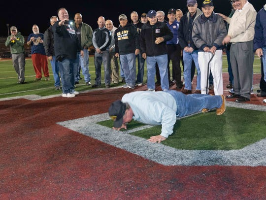 Boonton High School Veterans honored at halftime of