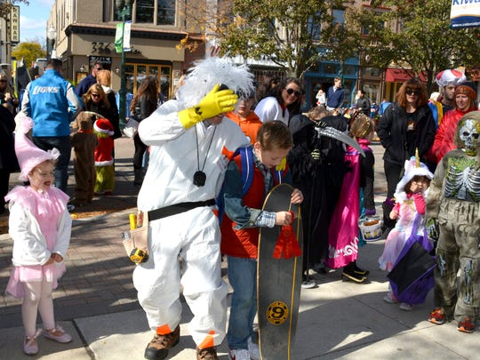 Kids and adults alike dress up for the annual Pumpkin