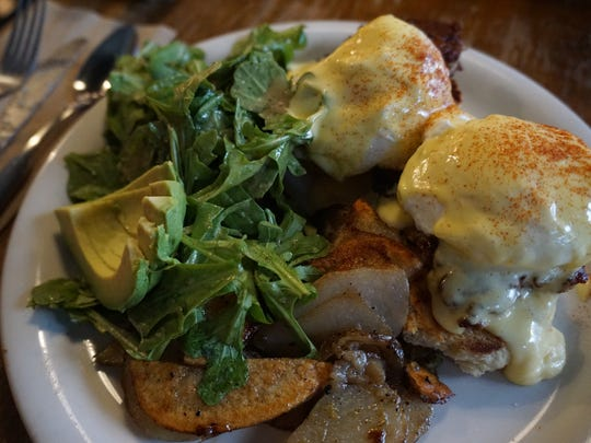 The Universal puts a spin on the traditional eggs benedict