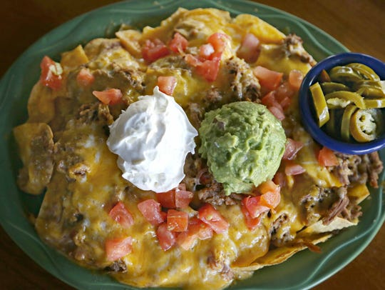 The nachos supreme at Macayo's Mexican Table.