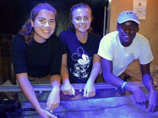 ELC Volunteers Katie Toperzer, Meghan Faria, and Farai Wade