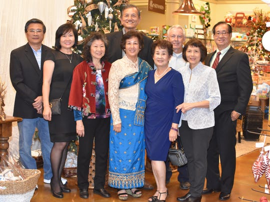 International Tasting creator and co-chairman Sieu Tang Wood gathered with family to support the 12th Annual International Tasting. Hosted at Southern Homes and Gardens, with from left, John and Fong Chang, Lan, Fio Woo, Sieu Tang Wood, Chohung and How Chen; and Man Woo, rear left, and Bill Wood, right.